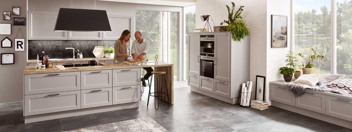 Moderner Landhausstil - Küche kaufen Berlin Küchenstudio ...