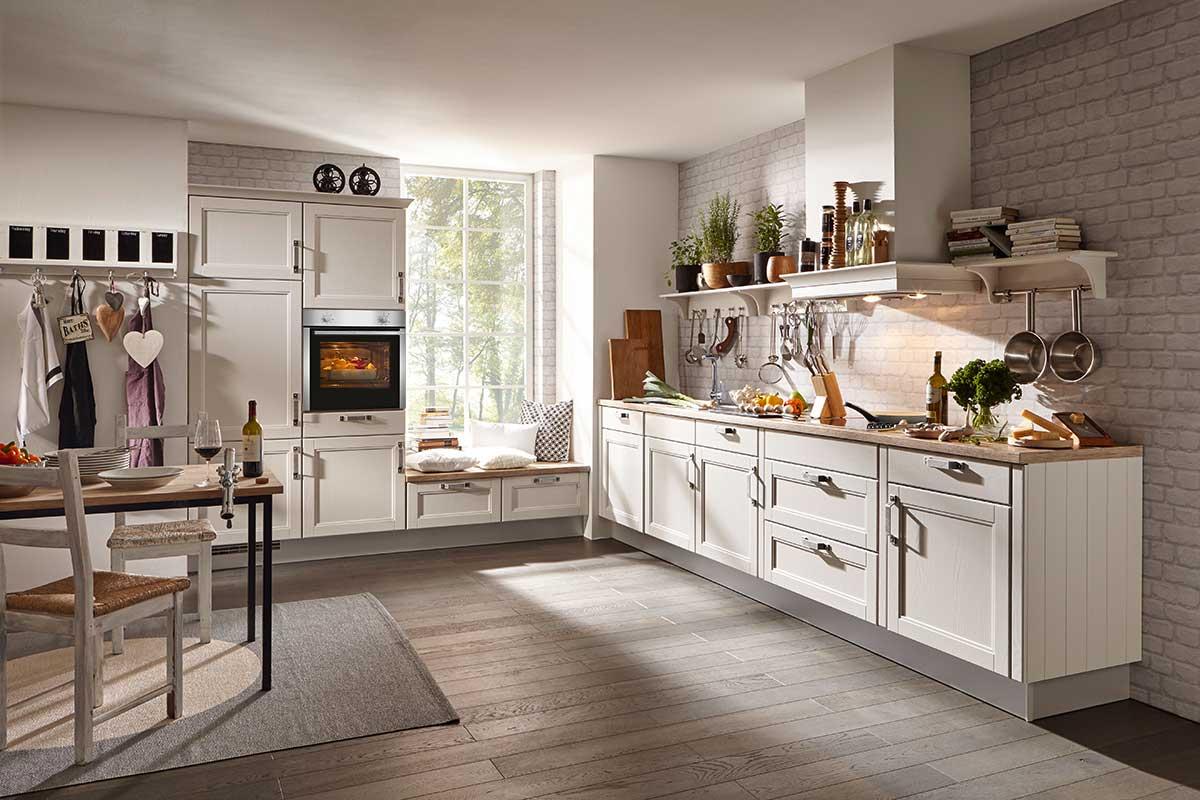 die landhausk che vorw rts zur ck in die romantik. Black Bedroom Furniture Sets. Home Design Ideas